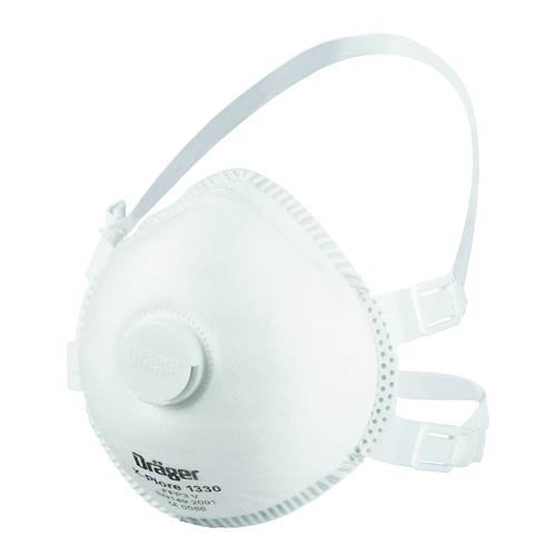 Dräger X-plore 1330V FFP3 NR D vorgeformte Atemschutzmaske mit Ventil - 5er Pack