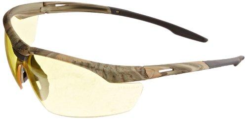 Gateway Safety 28CM88 Conqueror Wraparound Eye Safety Glasses, Amber Anti-Fog Lens, Camo Frame