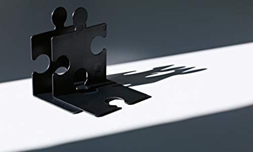 Reggi CD//libri a forma di tessere di puzzle Han confezione da 2 pezzi Arancione traslucido 123 x 142 x 171 mm