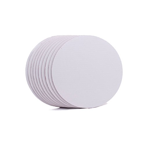 White Cardboard Cake Circle Base 8 Inch 24 Pack Disposabl...