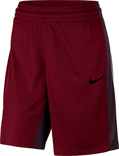 Nike Womens 10 Dry Essential Basketball Shorts (Red Crush/Burgundy Crush, Small)