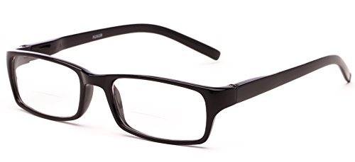 Readers.com The Vancouver Bifocal +2.75 Black Unisex Simple Rectangle Bifocal Reading Glasses