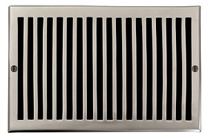 6 X 10 Brushed Nickel Contemporary Air Return (Vent Cover...