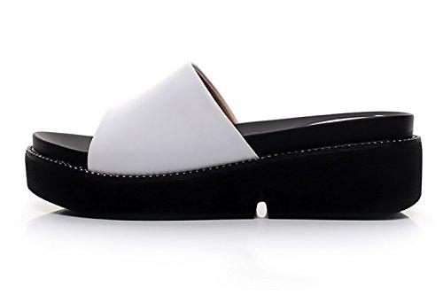 Femmes Guang Casual semelle White Fashion Carreaux Wedges Xing Pantoufles Summer Marée Épais 40 red À New Wordpad 38 qE0wdP