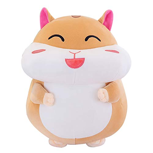 13.8-Inch Soft Hamster Plush Toy | Plush Animal Toys for Kids | Cute Cartoon Hamster Funny Stuffed Animal Toy for Boys & Girls Birthday Gift (♥ Yellow)