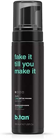 b.tan Self Tanner Mousse - Fake It Till You Make It - Sunless Tanner For Fast, Natural Looking Tan - Perfect F