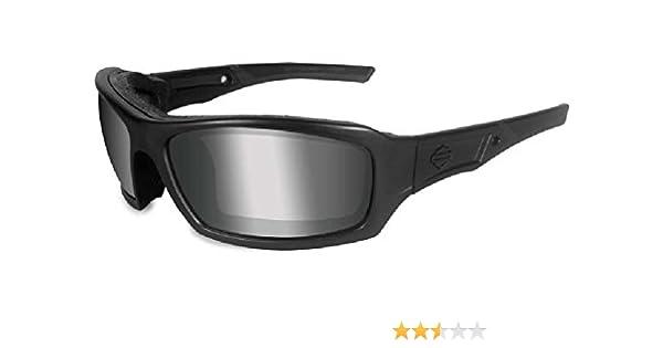 ba9a9e6df1 Amazon.com  Harley-Davidson Echo PPZ Silver Lens w Matte Black Frame  Sunglasses HDECH07  Harley-Davidson  Clothing