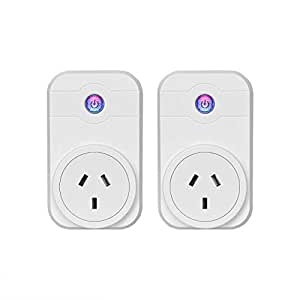 Smart Plug Wi-Fi Enabled Mini Smart Socket Compatible with Amazon Alexa Google Home Remote Control (2 Packs)