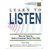 Learn to Listen, Jim Dugger, 1558520848