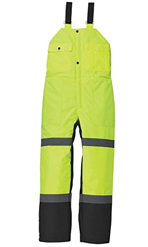 UTILITY PRO UHV500 - M/30L Quilt Lined Bib Overall, Medium/30' Length, Yellow/Black Medium/30 Length
