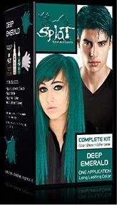 Splat Rebellious Colors Hair Coloring Complete Kit Deep Emerald by Splat by Splat