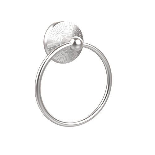 - Allied Brass MC-16-SCH Monte Carlo Collection Towel Ring, Satin Chrome