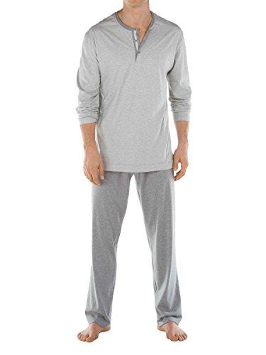 Calida mens cotton knit pajamas set Port Louis 41564 (754, X-large) by Calida