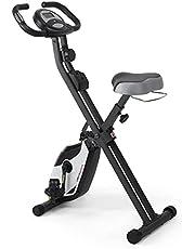 Ultrasport F-Bike, fietstrainer, hometrainer,fitnessfiets, opvouwbare fitnessfiets met trainingscomputer en hartslagsensoren, inklapbaar