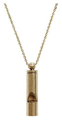 whistle necklace gold - 5
