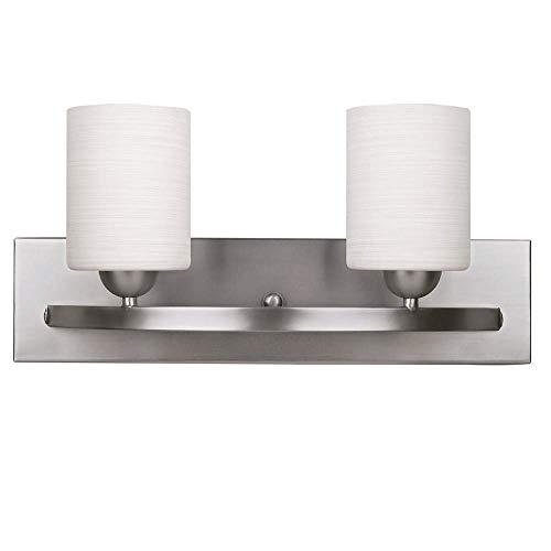 WholesalePlumbing IVL370A03BPT Vanity Light Fixture Bath Interior Lighting (Brushed Nickel, 2 - -