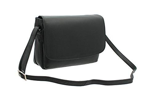 Visconti cuero del estilo del bolso 03190 Marrón Negro
