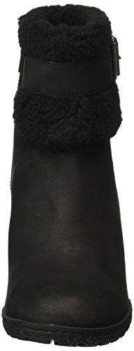 Timberland Glancy_glancy_glancy Teddy Fold Down, Zapatillas de Estar por Casa para Mujer Negro - negro (Black Nubuck)