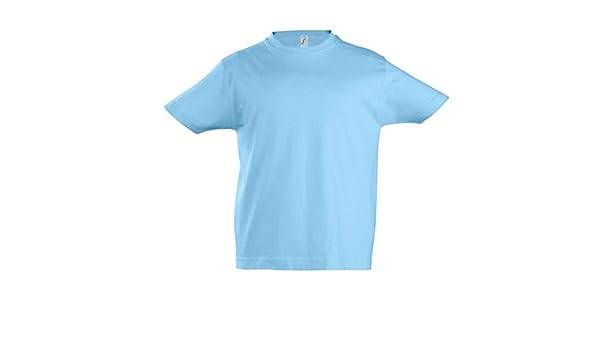 SOLS - Camiseta de manga corta - para niño Azul azul celeste 2 años: Amazon.es: Ropa y accesorios