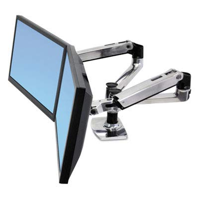 ERG45245026 - Ergotron Inc LX Dual Side-by-Side Arm for WorkFit-D Sit-Stand Desk