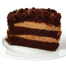 Sara Lee Round Chef Pierre Hershey Chocolate Premium Butter Cream Layer Cake, 64 Ounce -- 4 per case.