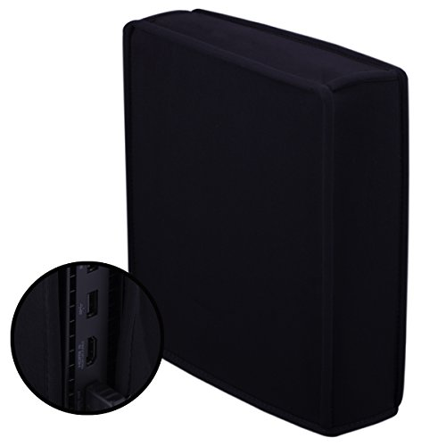 Price comparison product image MXRC Neoprene soft cover case sleeve dust proof for [Xbox One X] Scorpio ONLY Vertical Place(black)