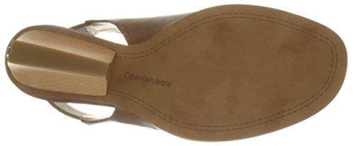 Taupe Bethann Wedge Calvin Klein Sandal Jeans Women's Cxpfqp8