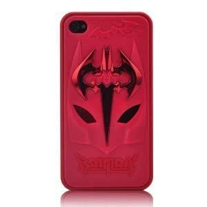86hero 3D Batman Protective Hard Case For iPhone 4/4S - Red