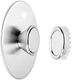 新しい便利なステンレス鋼の浴室アクセサリーウォールマウント収納ラック皿ステッカー石鹸棚磁気ソープホルダー-silver