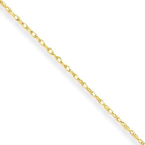 Amythyst Unisex Men's and Women's Thin 2mm Yellow Gold Tone Stainless Steel Cable / Rolo Link Chain / Necklace (20 Inches)