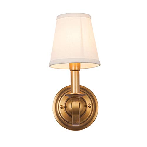 JINXUXIONGDI Industrial Art Style European Baroque Style Simple Brass E14 Retro Wall Light Fixture Simple Home Background Living Room Creative Lighting for Indoor pavilions