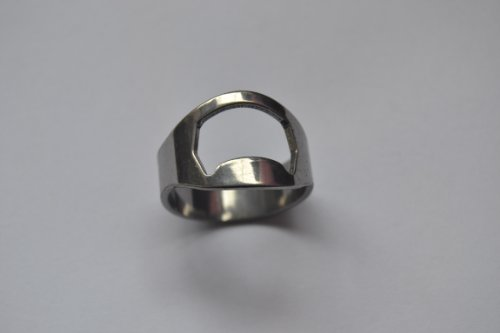 1pc Silver Color Stainless Steel Beer Ring Bottle Openers (Size12)