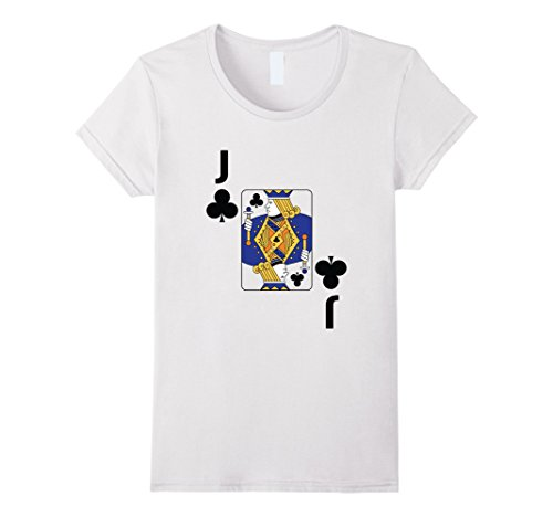 Las Costume Halloween Contest Vegas (Womens Jack of Clubs poker playing card halloween costume shirt XL)