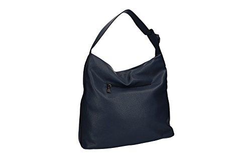 Borsa donna a spalla PIERRE CARDIN blu con apertura zip VN1208