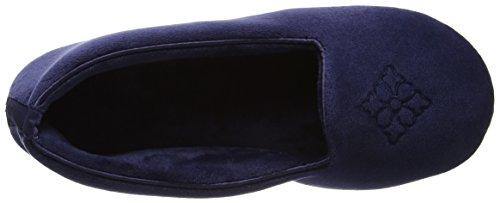 Dearfoams Women's Closed Open Back Slippers Blue (Peacoat) 3QBu5