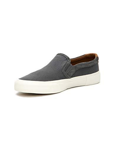 FRYE Men's Ludlow Slip ON Tennis Shoe, Grey, 10 M