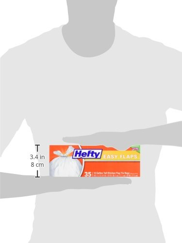 Hefty Easy Flaps Trash Bags (Tall Kitchen, 13 Gallon, 35 Count) by Hefty (Image #5)