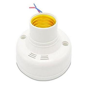 Desy portalámparas de rosca E27 corredor voz Sensor Delay Lampholder: Amazon.es: Hogar