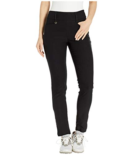 - Callaway Women's Performance Flat Front Tech Pant with Stretch, Caviar, XX-Large 32 inch Inseam