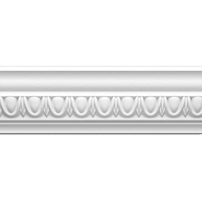 Focal Point 23135 4 1/8-Inch Classic Egg and Dart Crown Moulding 4 1/8-Inch by 8 Foot, Primed White, 8-Pack
