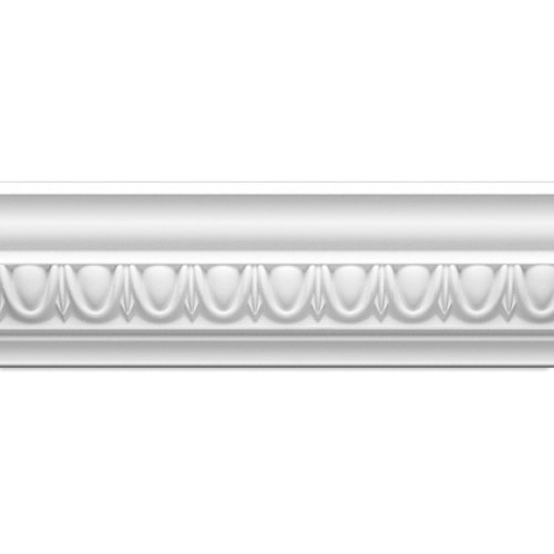 - Focal Point 23135 4 1/8-Inch Classic Egg and Dart Crown Moulding 4 1/8-Inch by 8 Foot, Primed White, 8-Pack