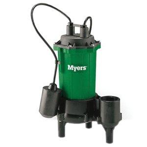 "Myers CMV5A-11 Sewage Pump, 95 gpm, 2"" NPT Outlet, 1/2 hp, Cast Iron Body"