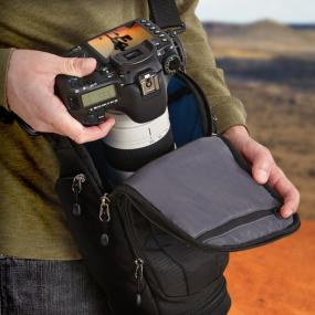 Case Logic DSH-103 Luminosity Large Pro DSLR Holster in use