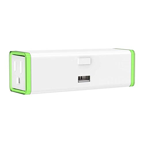 (Zooz Z-Wave Plus S2 Double Plug ZEN25, 2 Outlets, 1 USB Port )