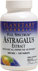 Planetary Herbals, Full Spectrum Astragal extrakt 500mg x120tabs - Astragalus Extract