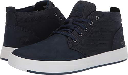 (Timberland Mens Davis Square Mixed-Media Chukka Navy Nubuck Sneaker -)