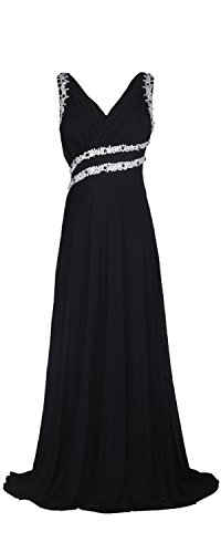 Beaded Slim Cut Formal Dress (conail Coco Women's Elegant Royal Formal Dresses Wear Long Wedding Party Gowns (Large, Black))