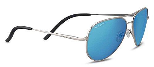 Serengeti Carrara Small Sunglasses Shiny Silver, - Sunglasses Carrara