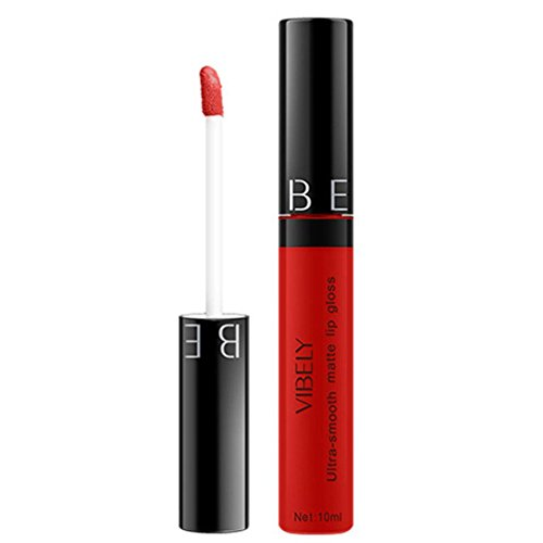 Matte Liquid Lipstick,ZTY66 Women Fashion Matte Soft Moisturizing Long Lasting Lip Glaze (B)