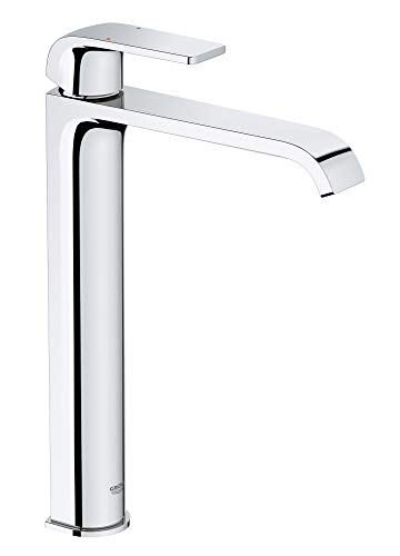 - Grohe 23869000 Defined 1.2 GPM Vessel Single Hole Bathroom Faucet with Pop-Up Drain Assembly, SilkMove and EcoJoy Technologies